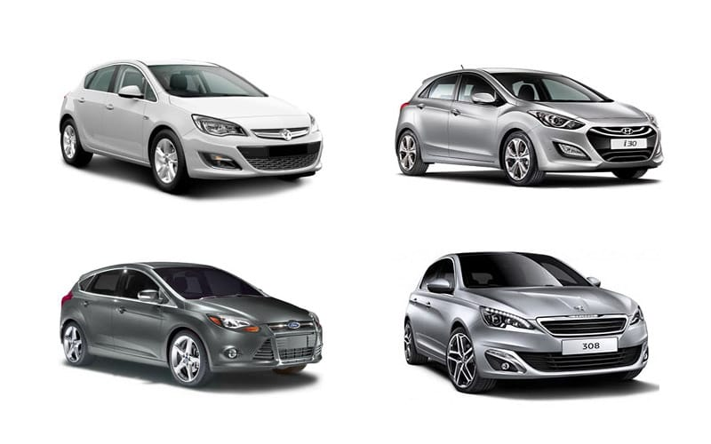 Four Diffe Car Models From A Compact Group Cars Shown Are Vauxhall Astra