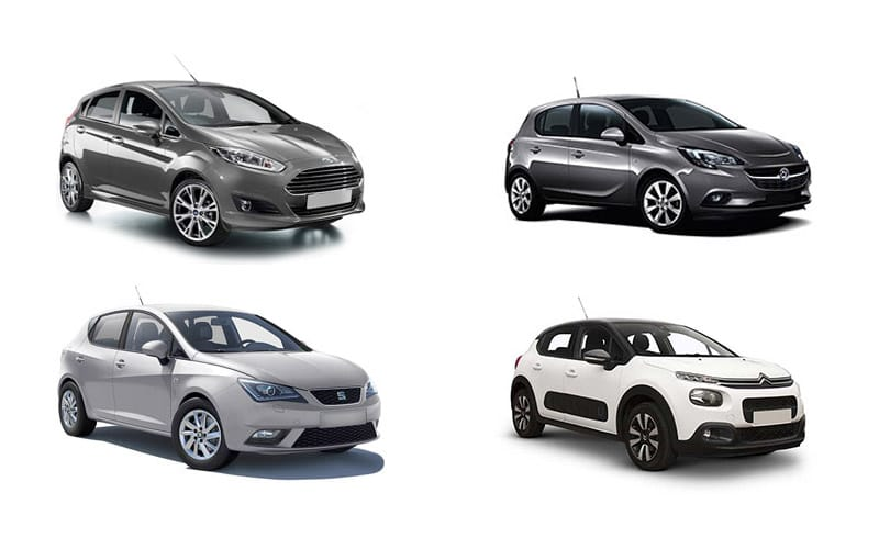 Four Diffe Car Models From An Economy Group Cars Shown Are A Ford Fiesta