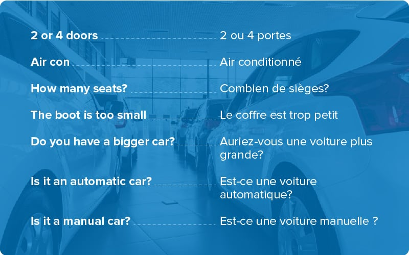 how to pick up your rental car in french - rentalcars