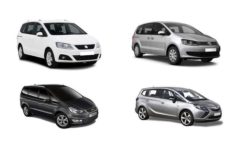 picture of four rental cars